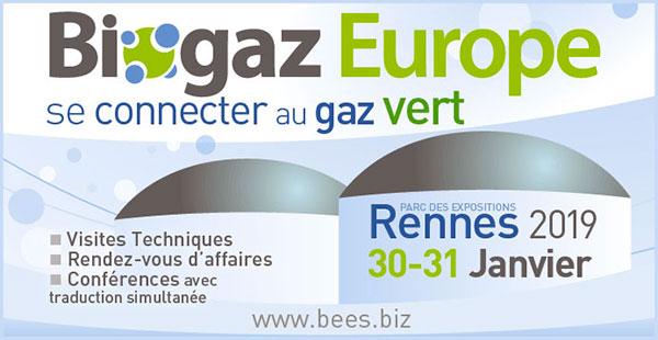 Biogaz Europe 2019 - Rennes - 30-31 janvier